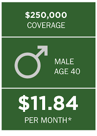 example assumes a 40 year old male ing a 10 year term life insurance policy example assumes a 40 year old female ing a 10 year term life insurance