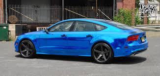 blue audi s7 designer wraps custom vehicle wraps fleet wraps color changes