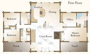 3 bedroom cabin floor plans log home floor plans caribou log home floor plan by precisioncraft