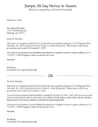 30 day notice contract termination letter template lease