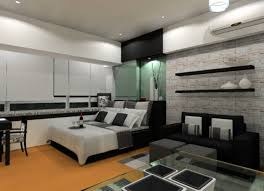 bedroom furniture for men present black and white color scheme