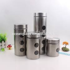 kitchen canisters stainless steel stainless steel see through canister stainless steel see through
