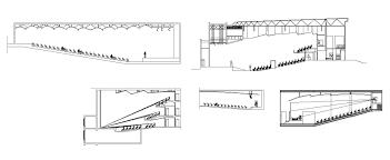 auditorium section 1 u2013 cad design free cad blocks drawings details
