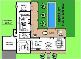 house plans with pool l shaped house plans with pool various size architect designed