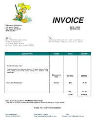 Invoice Service Template by Cleaning Services Invoice Thebridgesummit Co