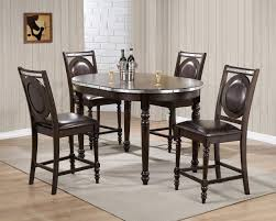 How Tall Is A Dining Room Table by D4260bt Counter Height Dining Set 5pc In Dark Brown By Global