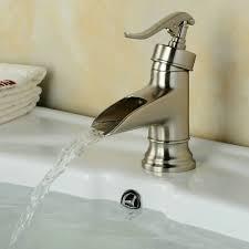100 brushed nickel waterfall faucet decor stylish wall