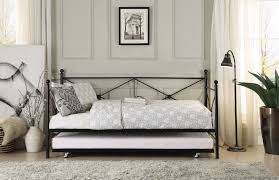 homelegance jones metal daybed with trundle black 4964bk nt