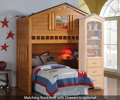 Bedroom Sets With Matching Desks Tree House Loft Bed 10160 Acme Furniture Kids And Teens