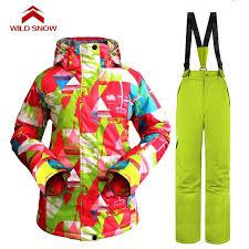 Aliexpress Com Buy New Wild Snow Women Snow Suit Set Snowboard