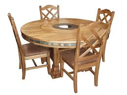 Lazy Susan Kitchen Table by Round Table With Lazy Susan Iron Wood