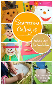 scarecrow collages u2013 autumn fall crafts for kids our little