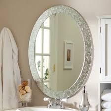 White Oval Bathroom Mirror Oval Bathroom Mirror Design Home Ideas Collection Oval