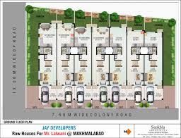 row house plans arts