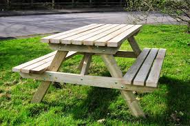 Folding Wood Picnic Table Picnic Tables The Wooden Workshop Oakford Devon