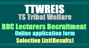 ttwreis degree colleges lecturers recruitment 2017 online