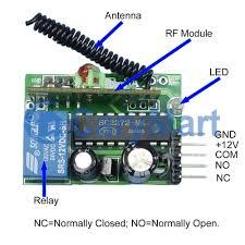 Overhead Door Remote Controls by 1ch Dc12v Mini Garage Door Remote Control Rf Transmitter Receiver
