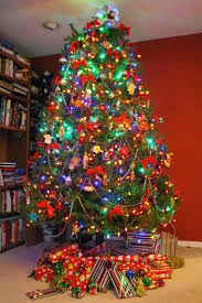 colored christmas tree lights shocking modern holiday color scheme decorating and of colored