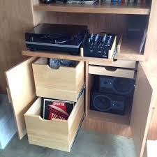 Record Player Cabinet Plans Vinyl Record Storage Cabinet With Doors Record Player Stand Lp