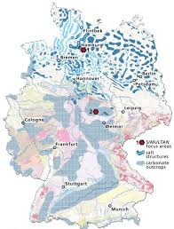 map of germany simplified geological map of germany to identify regions of