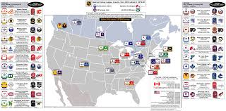 Nba Map Nhl Teams Map My Blog