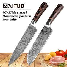 kitchen knives set xituo kitchen knives set 87 inch japanese chef knife damascus