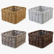 Laundry Hamper Ikea by Wicker Basket Ikea Byholma 1 Set 4 Color By Markelos 3docean
