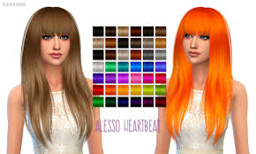 sims 4 hairs birksches sims blog japanese bun long hair