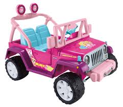 purple jeep no doors power wheels barbie jammin u0027 jeep wrangler 12 volt battery powered