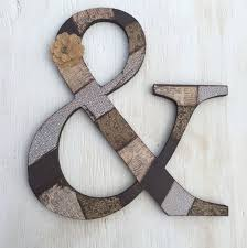 12 wooden ampersand u0026 ampersand letter custom and sign wood