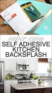 Self Adhesive Kitchen Backsplash by Subway White Peel And Stick Backsplash If You Need To Cover Up