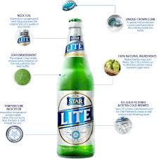 does light beer have less alcohol star lite from star