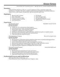 Auto Mechanic Resume Samples by Diesel Mechanic Resume Examples Resume For Your Job Application