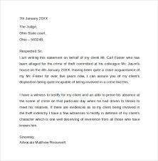 best solutions of example of a character letter for court with