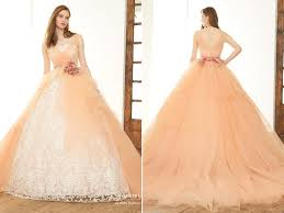 peach is the new pink 32 sweet and romantic peach gowns you must
