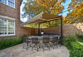 design ideas cozy outdoor kitchen with retractable awnings and