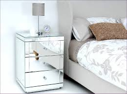 bedroom awesome round mirrored side accent end tables nightstand