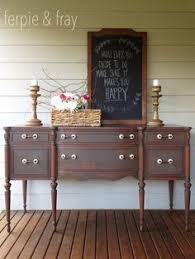 dresser painted by ferpie and fray in mustard by old fashioned