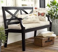 pottery barn bar table hstead painted porch bench black pottery barn inside front plan 3