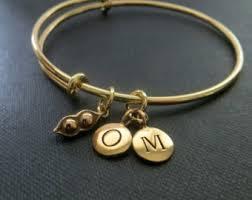 two peas in a pod charm peapod bracelet etsy