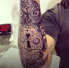 owl skull tattoos owls with skull faces