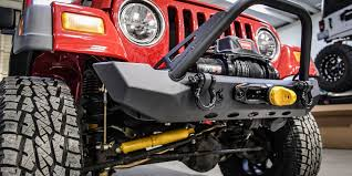 jeep stinger bumper purpose jeep wrangler cj yj tj pyro midwidth front bumper flat top