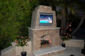Outdoor Fireplace Canada - outdoor fireplace with tv rolitz