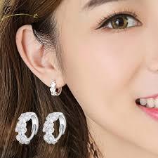 ear piercing hoop hollow flower huggie ear piercing hoop earring for