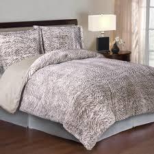 Faux Fur Comforter Set King Cozy Nights 3pc Comforter Set Neutral Carved Mink Faux Fur
