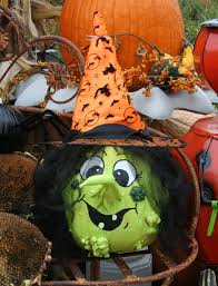 painted pumpkin and gourd to make a witch fall u0026 halloween ideas