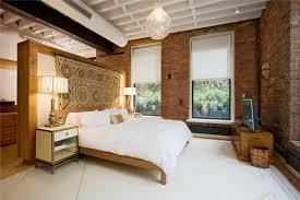 masculine bedroom furniture black brick wall interior decorating
