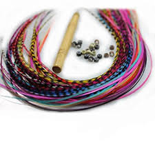 hair feathers new 7 11 feather hair extension kit 10 multi