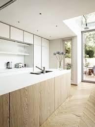 all white light wood kitchen interior decor decoration