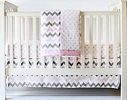Pink Chevron Crib Bedding My Baby Sam Chevron 3 Crib Bedding Set Pink